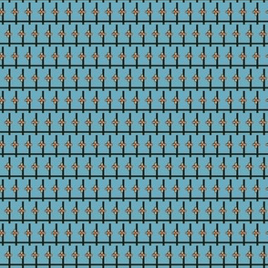 Indian Crosshatch (Blue)