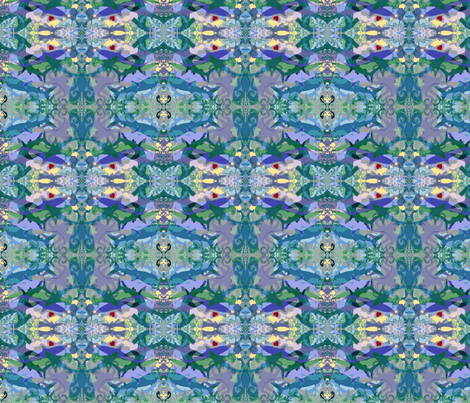 Ocean Passion (gray) fabric by mbsmith on Spoonflower - custom fabric