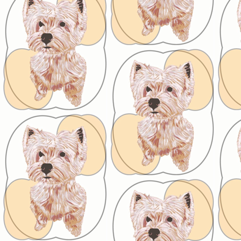 Westie on White fabric by david_kent_collections on Spoonflower - custom fabric