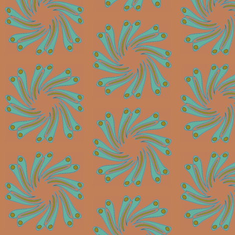 Sea Foam Wreath fabric by david_kent_collections on Spoonflower - custom fabric