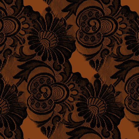Lace trompe l'oeuil three fabric by nalo_hopkinson on Spoonflower - custom fabric