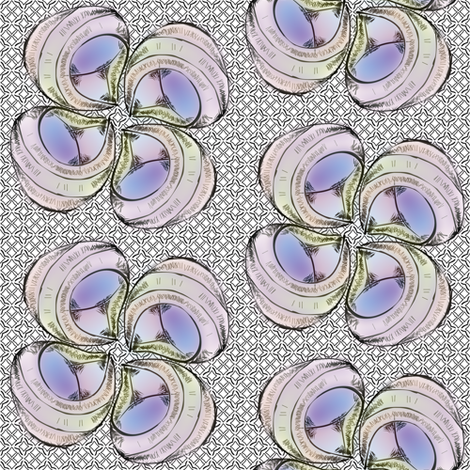 shellflower fabric by glimmericks on Spoonflower - custom fabric