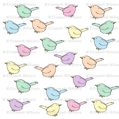Pastel Birdies