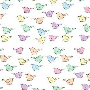 Pastel Birdies