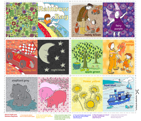 Rainbow Rag - A babies first book fabric by woodle_doo on Spoonflower - custom fabric