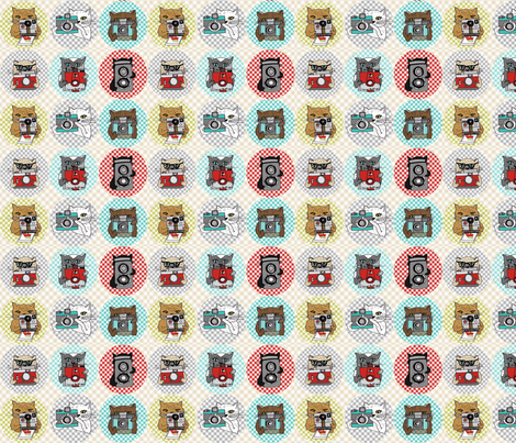 Cats with Cameras - Spots fabric by papersparrow on Spoonflower - custom fabric