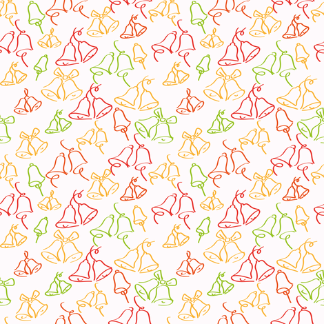 Bells - Orange - by ebygomm fabric by upcyclepatch on Spoonflower - custom fabric