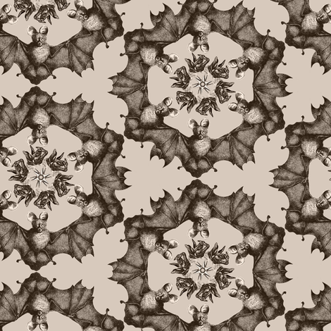 ornament bats beige 1 fabric by susiprint on Spoonflower - custom fabric
