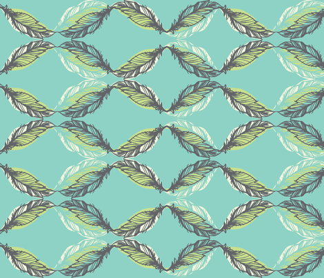feather sketch fabric by pattern_state on Spoonflower - custom fabric