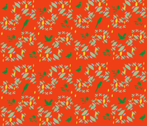 Birds and feathers fabric by scifiwritir on Spoonflower - custom fabric