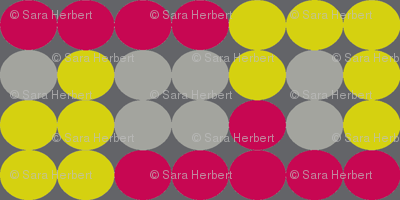 Dot Dot in Greys, Citrine, and Raspberry