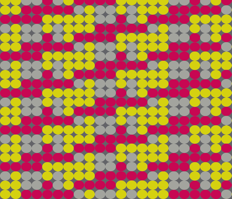 Dot Dot in Greys, Citrine, and Raspberry fabric by bluenini on Spoonflower - custom fabric