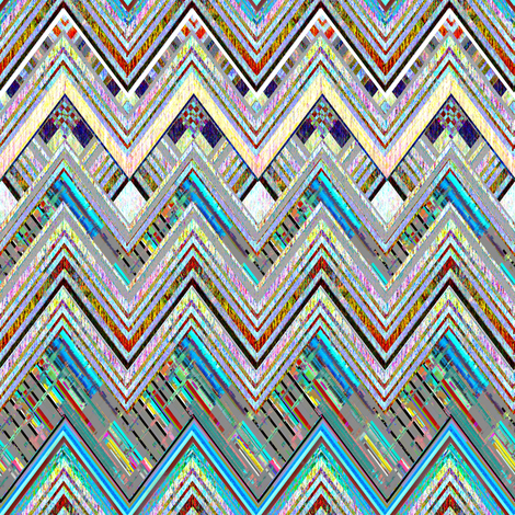 Got the Blues Zig Zag fabric by joanmclemore on Spoonflower - custom fabric