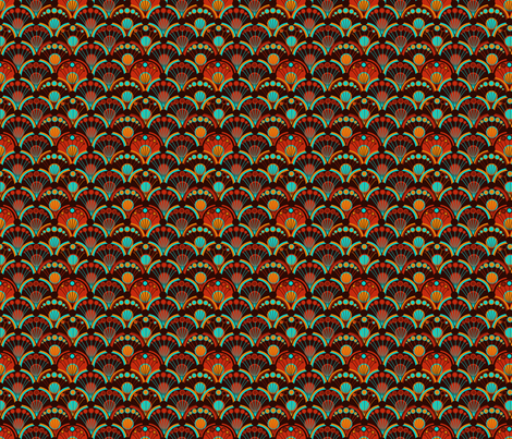 Chocolate Scales fabric by joonmoon on Spoonflower - custom fabric
