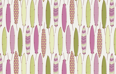 berry feathers fabric by littlerhodydesign on Spoonflower - custom fabric