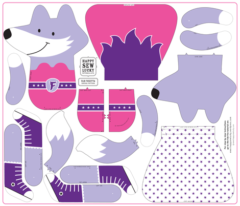 FAB FOXETTA fabric by happysewlucky on Spoonflower - custom fabric