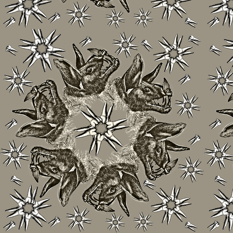 Circle Bats on Brown Background fabric by susiprint on Spoonflower - custom fabric
