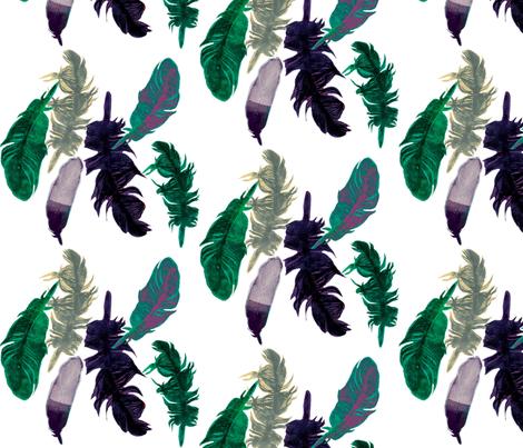 Feather Fair  fabric by gigimoll on Spoonflower - custom fabric