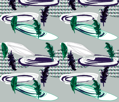 Feather storm  fabric by gigimoll on Spoonflower - custom fabric