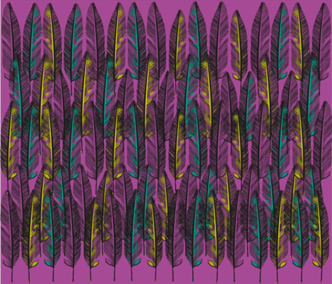 pinkfeathers_F3 fabric by pénélopette on Spoonflower - custom fabric