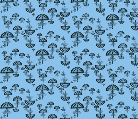 Jellyfish Danger (Deed Sea) fabric by kitschkat on Spoonflower - custom fabric