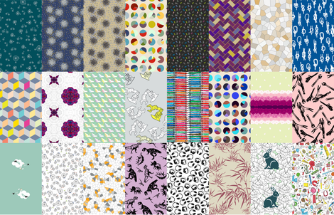 24 Design Collection fabric by candyjoyce on Spoonflower - custom fabric