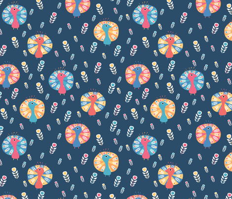 Proud as a Peacock fabric by mondaland on Spoonflower - custom fabric