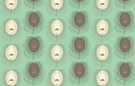 pulling her feathers out fabric by fable_design on Spoonflower - custom fabric