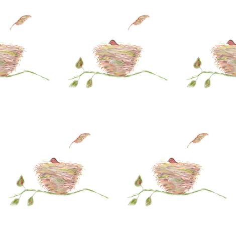 Pink Nest fabric by seworegon on Spoonflower - custom fabric