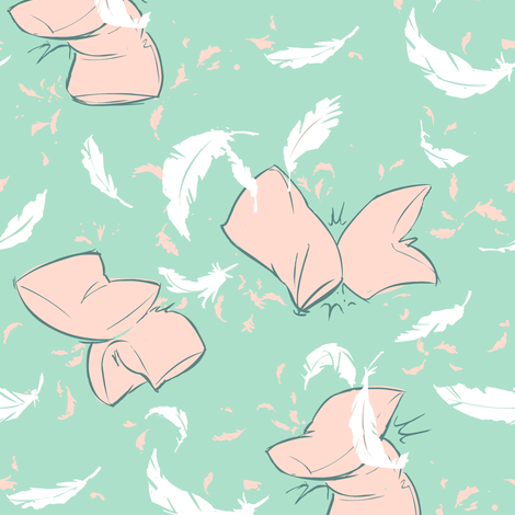 Pillow fight! (pink pillows) fabric by theboerwar on Spoonflower - custom fabric