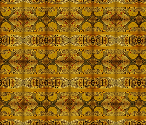 grandfather clock fabric by codalion on Spoonflower - custom fabric