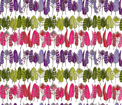 Fancy Feathers fabric by dynasty_b on Spoonflower - custom fabric