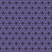 Small Haunted Mansion Damask in Purple