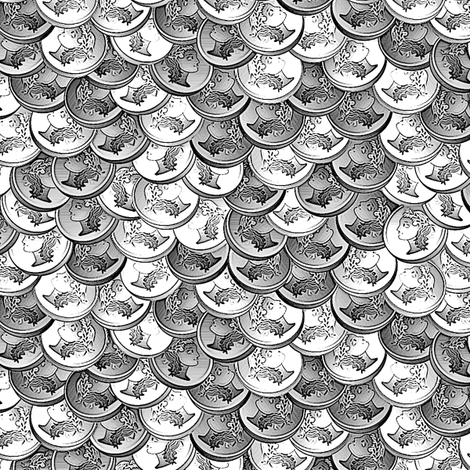 coins pieces of silver fabric by glimmericks on Spoonflower - custom fabric