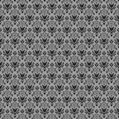 Small Haunted Mansion Damask in Gray