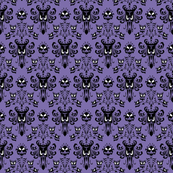 Medium Haunted Mansion Damask in Purple