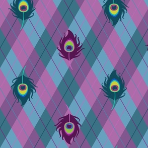 Peacock Argyle (Purple)