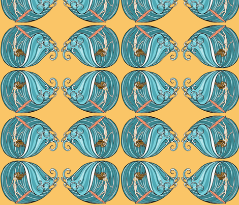 surfer girl fabric by garwooddesigns on Spoonflower - custom fabric