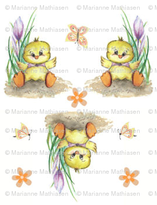 Easter Chicken, mini print, holiday, decoration, spring