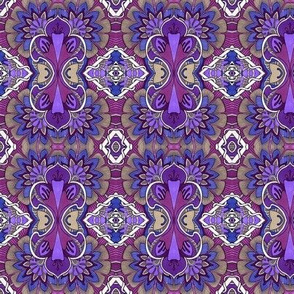 Classic Pseudo Damask in Purple