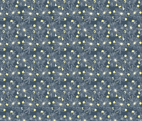 Dream in Flowers fabric by spugnardidesign on Spoonflower - custom fabric