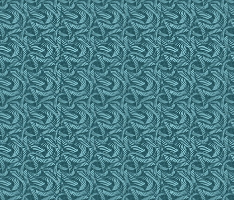 Tickled Teal fabric by spugnardidesign on Spoonflower - custom fabric