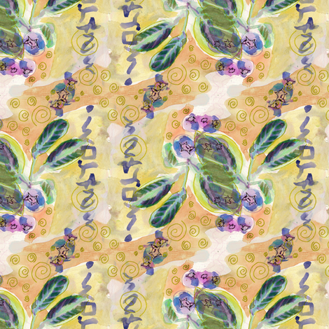 Juneberry fantasy by Alexandra Cook  fabric by linandara on Spoonflower - custom fabric