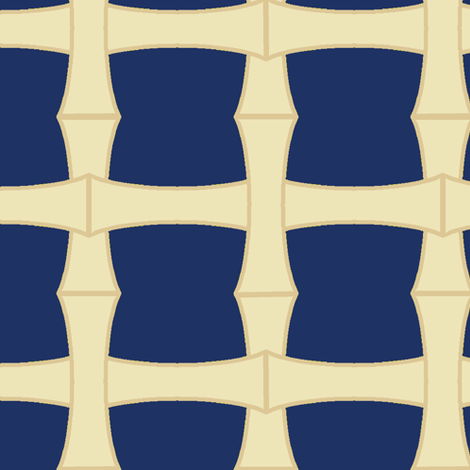 Bamboo Weave Blue fabric by pond_ripple on Spoonflower - custom fabric