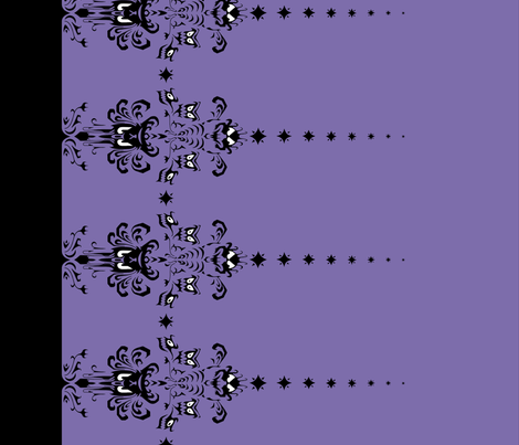 Haunted Mansion Damask Border in Purple