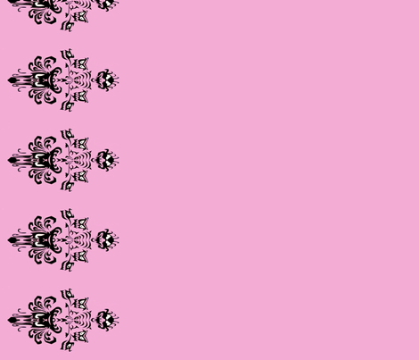 Haunted Mansion Damask Border in Pink fabric by charmcitycurios on Spoonflower - custom fabric