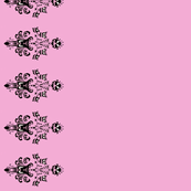 Haunted Mansion Damask Border in Pink