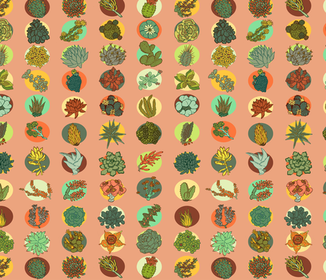 Succulents fabric by sarahrobbins on Spoonflower - custom fabric