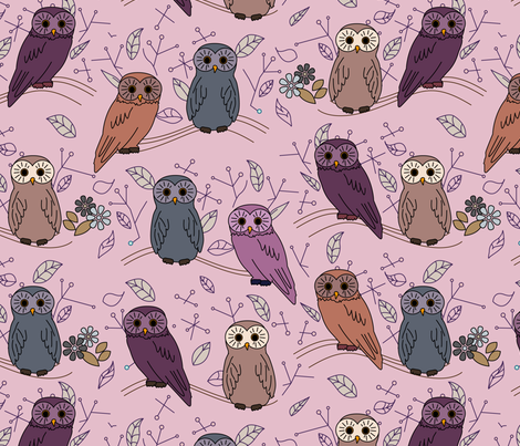 eulen&lerchen_birds#3 fabric by eulen&lerchen on Spoonflower - custom fabric