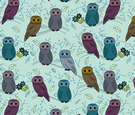 eulen&lerchen_birds#2 fabric by eulen&lerchen on Spoonflower - custom fabric